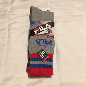 New Mens 2 pack of fila boot socks
